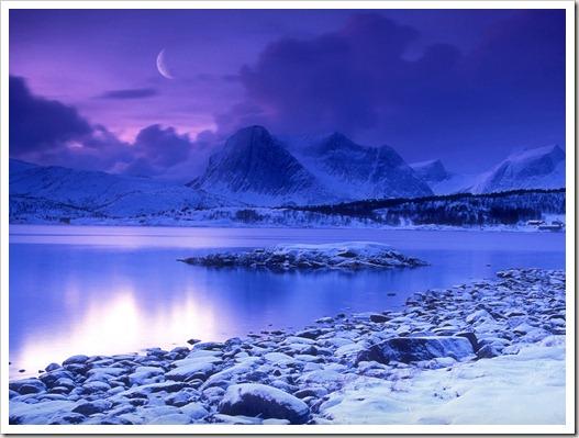 Cold_Mountain_Lake_at_Dusk_Skarstad_Norway